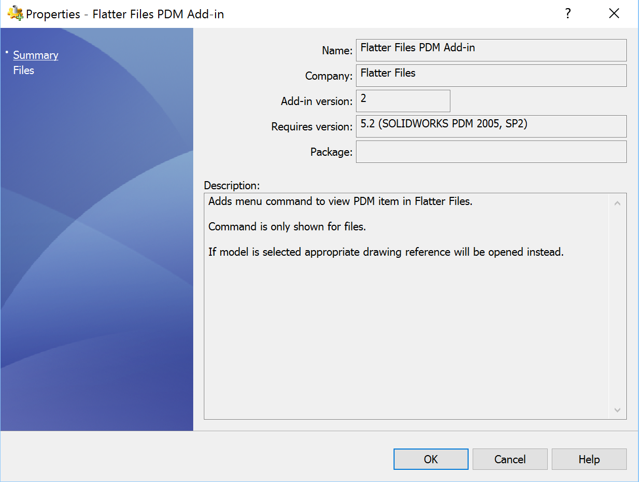 Flatter Files PDM Menu