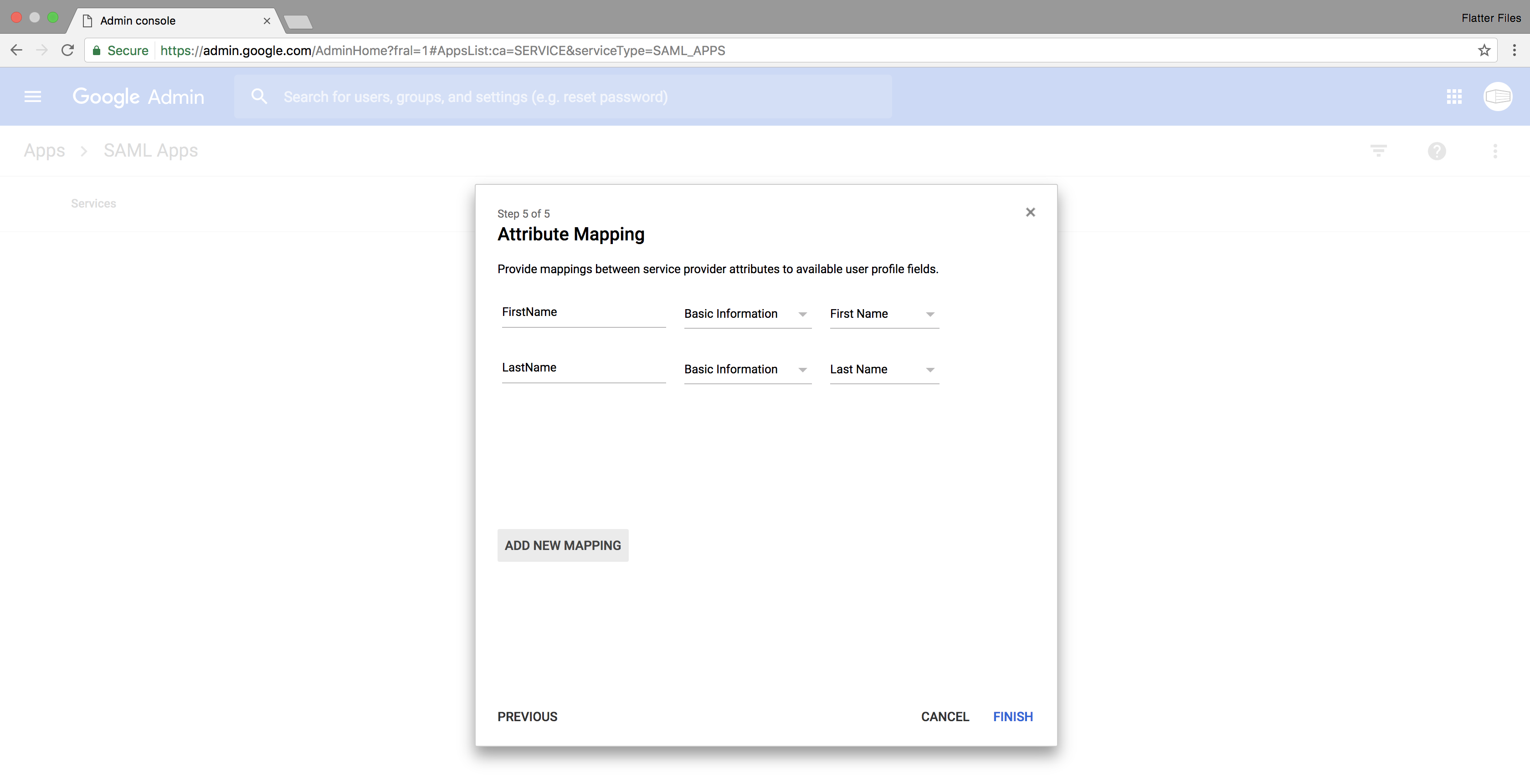 G Suite Attributes Completed