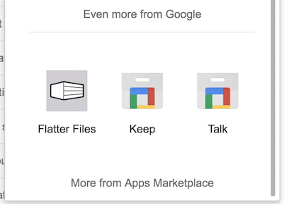 G Suite Flatter Files Shortcut