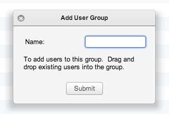 Add User Group Window
